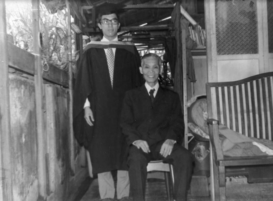 GGM Tang Yik con il suo pronipote GM Michael Tan